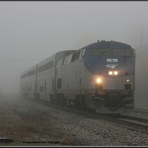 Amtrak 371 Pere Marquette stopping in New Buffalo, MI