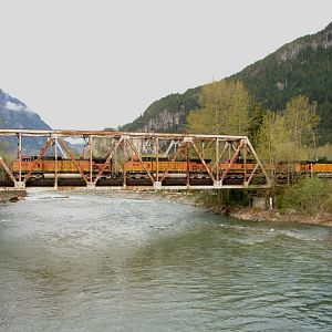 Crossing the North Fork Skykomish River
