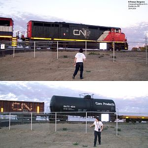 Railfan with a friend