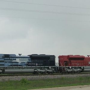 UP MOPAC HERITAGE LOCOMOTIVE # 1982 & MKT HERITAGE # 1988