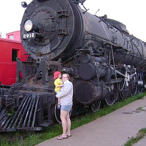 Loco 2912 and my wife and boy