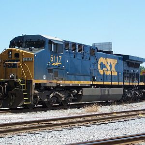 CSXT 5117 does a brake test at Pinners Point