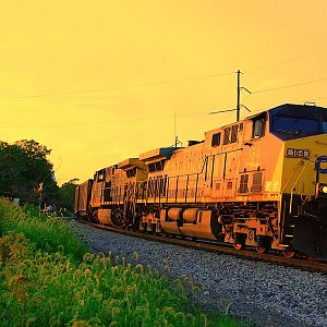 Sunset on the CSX