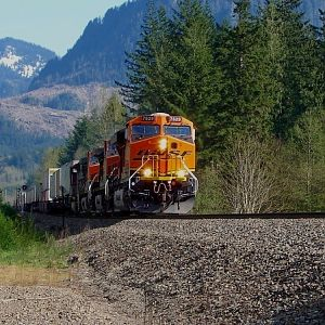 Westbound at East Gold Bar,WA