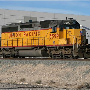UP SD40-2 3599 at N. Las Vegas,NV.
