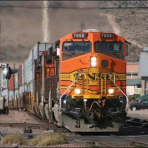 BNSF ES44DC at Kingman,AZ.