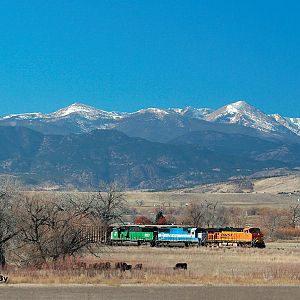 BNSF 7754 North At Highland, CO