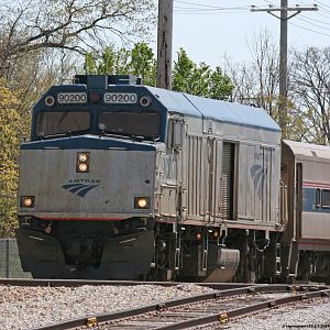 Amtrak #90200 Wolverine 352 passes National Copper siding