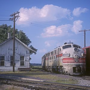 CB&Q depot at Barstow, IL, August 28, 1966, photo by Chuck Zeiler