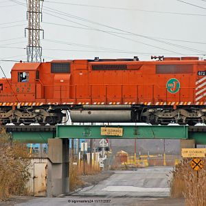 EJ&E #672 SD38-2 Pine Junction