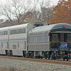 Amtrak PM P371 with the Private car Navy 118