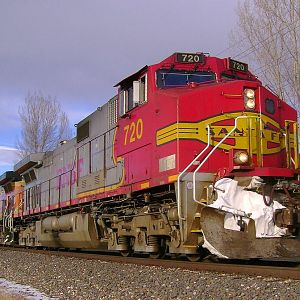 BNSF 720 With A Trace Of Snow