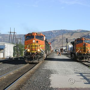 Hot Day in Wenatchee Yard