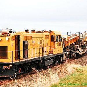 Loram ballast cleaner