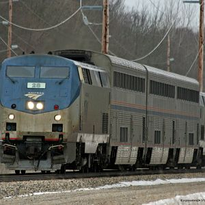Amtrak 350 west of Dowagiac at Peavine St crossing