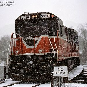 P&W train NR-2 in the snow