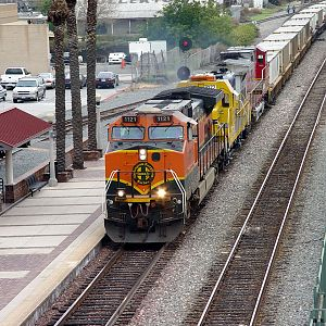 West bound stack train at Fullerton station