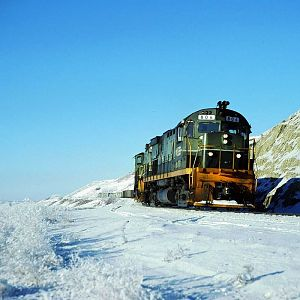 A Frosty Day on The British Columbia Railway