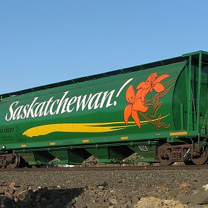 Saskatchewan covered hopper