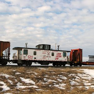 CN operation safety caboose 77014
