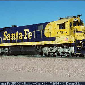 Santa Fe SF30C at Barstow,CA.