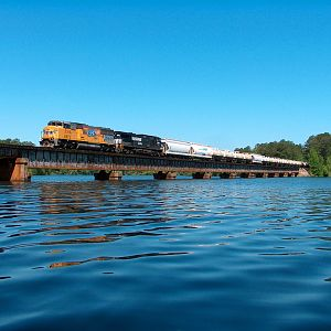 NS 336 Crosses Lake Martin