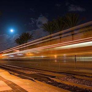 Westbound under a Full Moon