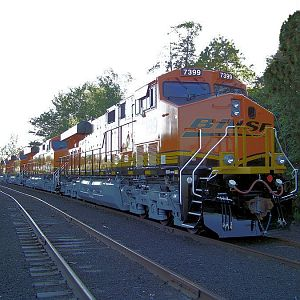 New GE Locomotives at Erie PA .
