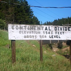Continental Divide - west side