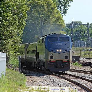 Amtrak 365 Bluewater pulls into Niles, Michigan