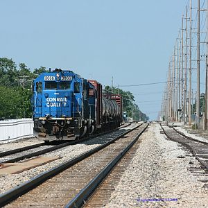 NS B-1-G on the controlled siding in Dowagiac