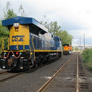 NEW CSX GE Number 914 at Erie, PA.