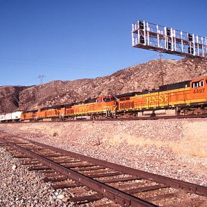 BNSF Working through Cajon Station