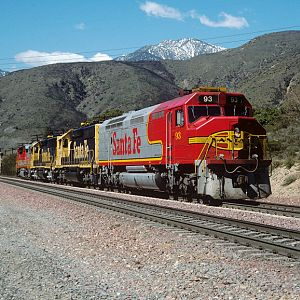 Santa Fe FP45 on Cajon Pass