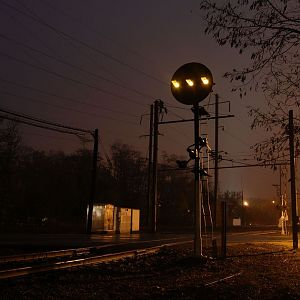 PRR at night..