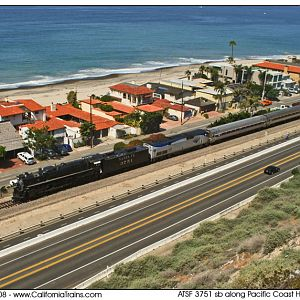 ATSF 3751 soutbound along PCH in Dana Point, CA