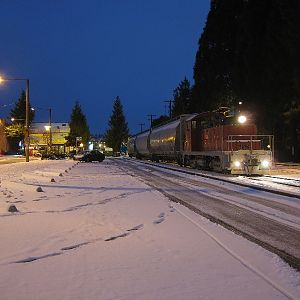 Snowy Night in Ballard