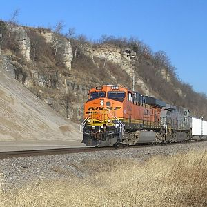 BNSF Coal Train at Foley, MO