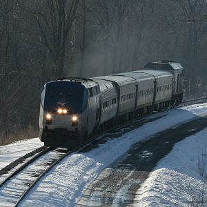 Amtrak 352 Wolverine Dayton Lake Rd southwest Michigan