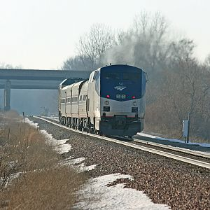 Amtrak 353 Wolverine @ Portage Rd. Niles, Michigan