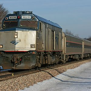 Amtrak 353 Wolverine @ Portage Rd. Niles Michigan