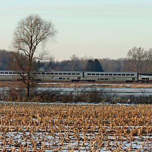 Amtrak 364 Blue Water US 12 Heading east too Niles, MI