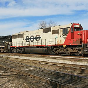 Ex Soo Line SD 60 6005 on BNSF