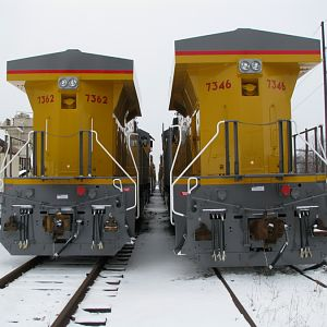 New UP GE Locomotives. Erie, PA.