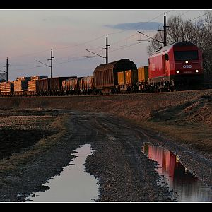 Evening Freight Reflection