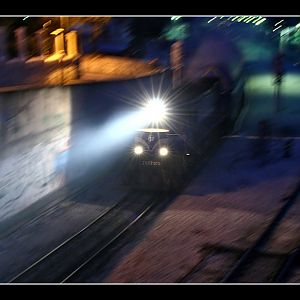 GM Diesel Night Train Departure