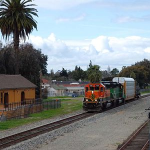 Small Freight Train Passing the SP 2472