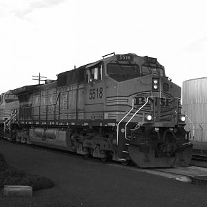 Black and white BNSF