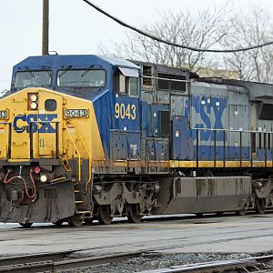 CSX C44-8W #9043 on CSX Dolton, IL
