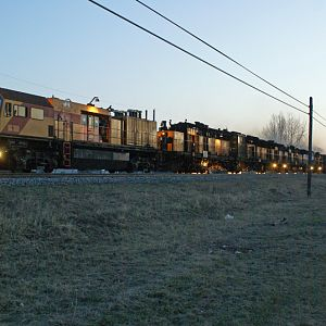 Loram eastbound on CP mainline